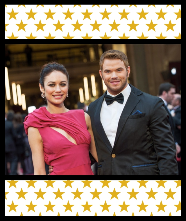 Kellan Lutz in eco friendly tux for Oscars via designwellspent.com